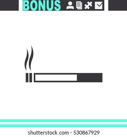 Cigarette vector icon. Smoking symbol.