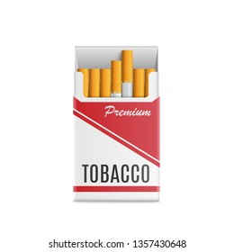 cigarettes pack.realistic style for mockup.vector illustration