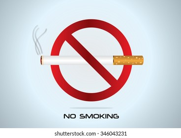 """cigarettes and the sign """"No smoking"""""""