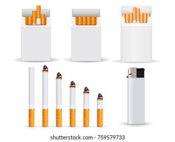 Cigarettes. Vector 3d illustration isolated on white background