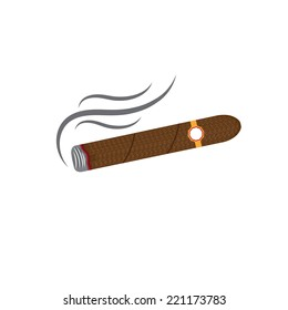 cigars vector illustration isolated on white background