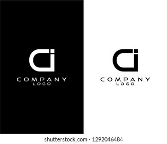 ci/ic modern logo design with white and black color that can be used for business company.