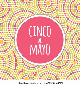 Cinco de Mayo background vector. Festive design for fiesta banner or party invitation and poster. Fireworks bright pattern cards template.