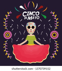 cinco de mayo celebration with katrina character