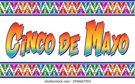 Cinco de Mayo Colorful Banner