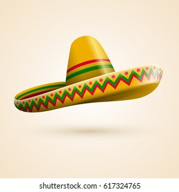 Cinco de Mayo hat. Vector illustration.