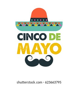 Cinco de Mayo - May 5, federal holiday in Mexico. Fiesta banner and poster design, greeting card