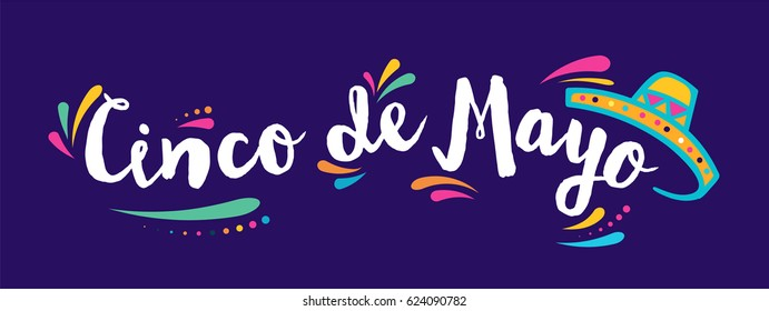 Cinco de Mayo, Mexican fiesta, holiday poster, banner, greeting card