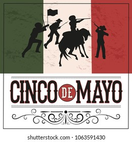 Cinco de Mayo. National holiday of Mexico, in honor of the victory of the Mexican troops in the Battle of Puebla. Illustration, poster, leaflet, banner, postcard.