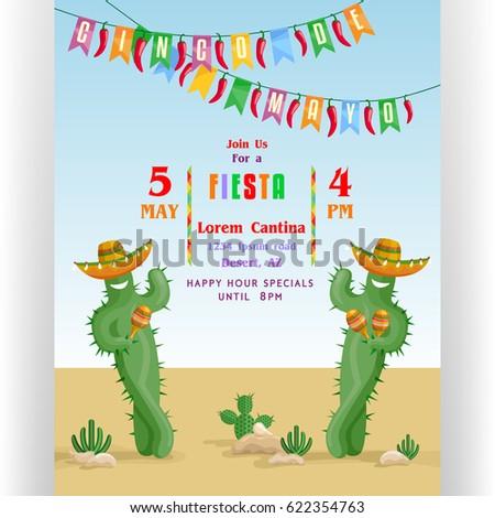 cinco de mayo poster template smiling stock vector royalty free