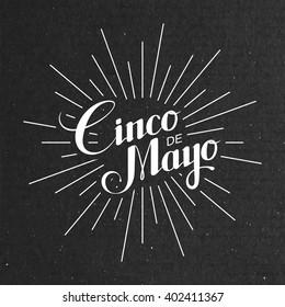 Cinco de Mayo vector illustration. 5 of May holiday vector. Cinco de Mayo holiday banner.  Lettering illustration