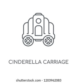Cinderella carriage linear icon. Cinderella carriage concept stroke symbol design. Thin graphic elements vector illustration, outline pattern on a white background, eps 10.
