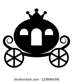 Cinderella carriage solid icon design