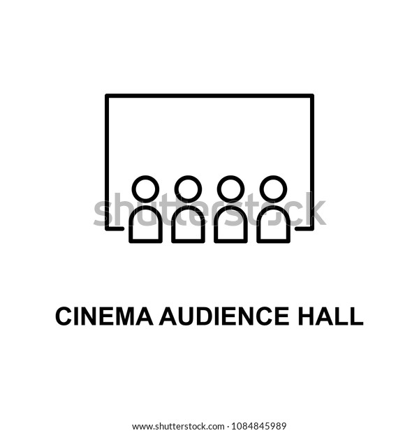 cinema audience hall icon. Element of cinema for mobile concept and web apps. Thin line cinema audience hall icon can be used for web and mobile. Premium icon on white background