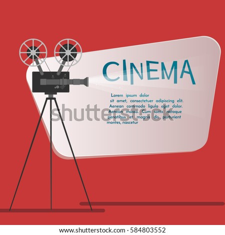 Cinema Background Banner Movie Flyer Ticket Stock Vector (Royalty ...