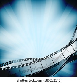 cinema background with film strips. vector illustration