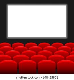 Cinema background. Vector illustration