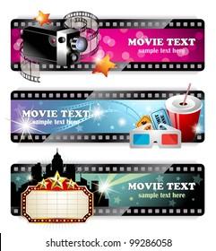 Cinema Banners -EPS 10