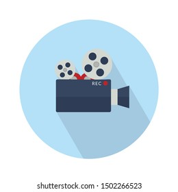 cinema Camera flat icon - From Multimedia, Camera and Photography icons set