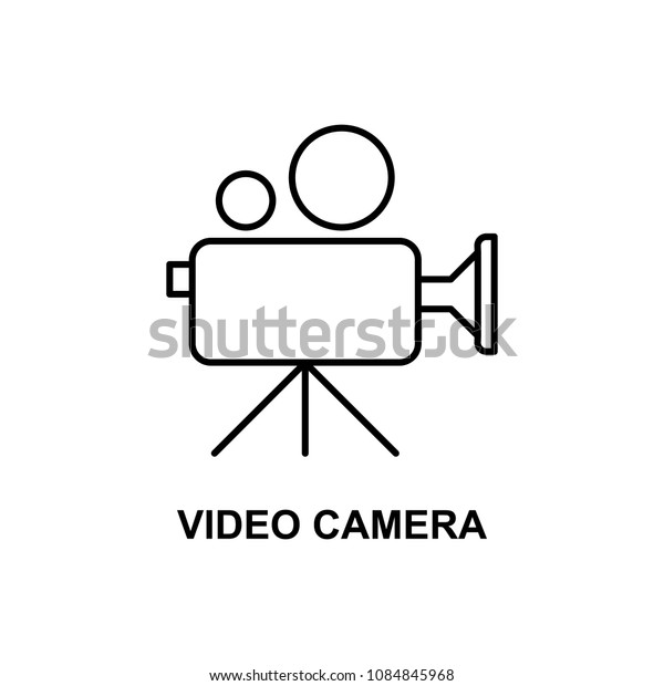 cinema camera icon. Element of cinema for mobile concept and web apps. Thin line cinema camera icon can be used for web and mobile. Premium icon on white background