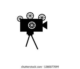 Cinema camera icon - Vector