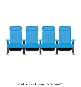 Cinema chairs isolated