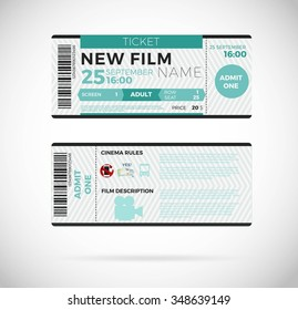 Cinema concept with ticket icons design, vector illustration 10 eps graphic.