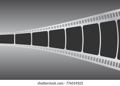 Cinema concept vector illustration. Background with film strip.