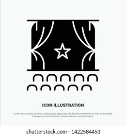 Cinema, Debut, Film, Performance, Premiere solid Glyph Icon vector