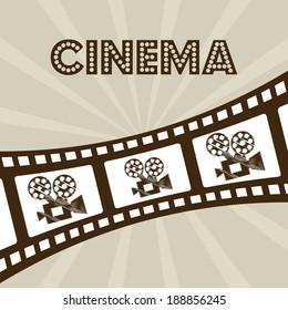 Cinema design over beige background, vector illustration