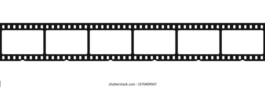 Cinema film strip isolated on white background vector illustration. EPS 10