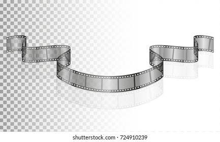 cinema film transparent stock vector illustration isolated on white background