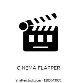 cinema flapper icon. cinema flapper symbol design from Cinema collection. Simple element vector illustration on white background.