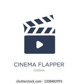 cinema flapper icon. Trendy flat vector cinema flapper icon on white background from Cinema collection, vector illustration can be use for web and mobile, eps10