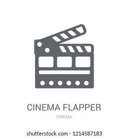cinema flapper icon. Trendy cinema flapper logo concept on white background from Cinema collection. Suitable for use on web apps, mobile apps and print media.