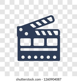 cinema flapper icon. Trendy cinema flapper logo concept on transparent background from Cinema collection