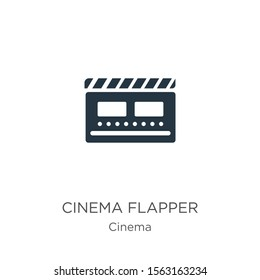 Cinema flapper icon vector. Trendy flat cinema flapper icon from cinema collection isolated on white background. Vector illustration can be used for web and mobile graphic design, logo, eps10