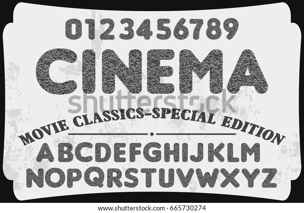 Cinema Font Handcrafted Vector Script Alphabet Stock Vector Royalty Free 665730274