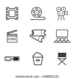 Cinema icon set isolated vector illustration