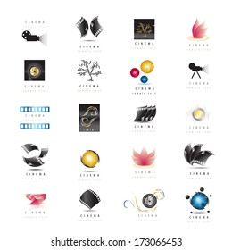 Cinema Icons Set - Isolated On White Background - Vector Illustration, Graphic Design Editable For Your Design.