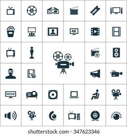 cinema Icons Vector set.