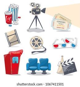 cinema icons for you design