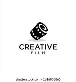 Cinema logo movie emblem template . Movie Production Logo .Film Camera Logo Template . film strip cinema , Videography Logo Images