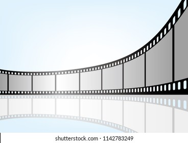 Cinema / movie and photography 35 mm film strip template,vector 3D elements