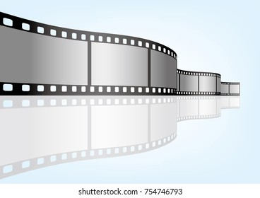 Cinema / movie and photography 35 mm film strip template, vector elements