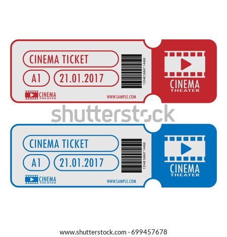cinema movie ticket template simple design stock vector royalty