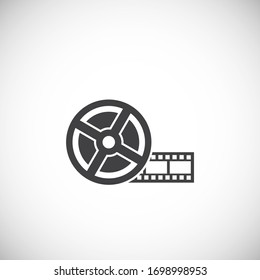 Cinema related icon on background for graphic and web design. Creative illustration concept symbol for web or mobile app.