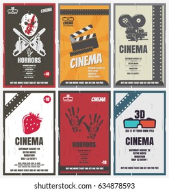 Cinema retro posters for movies of different genres. You can use it as advertising