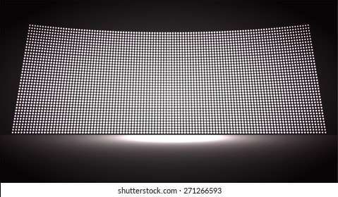 cinema screen for movie presentation. Light Abstract Technology background for computer graphic website internet and business. black background. Pixel, mosaic, table. point, spot, dot