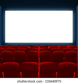 cinema screen  to place your concept. vector design